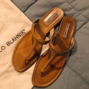 Manolo Blahnik Leather Sandals Size 41